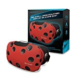 Casque VR - Housse Protection - Silicone - Rouge - HTC Vive