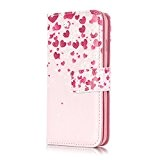 Coque Etui pour iPhone 7, iPhone 7 Portefeuille Cuir Coque Housse, iPhone 7 PU Leather Case Wallet Cover Flip Coque, ...