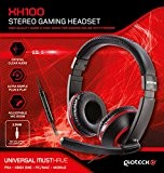 Gioteck XH100 Micro Casque Gaming Stéréo pour iPhone/iPad/Xbox/PS4/PC - rouge