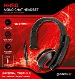 Gioteck XH50 Micro Casque Mono Chat pour iPhone/iPad/Xbox/PS4/PC - rouge