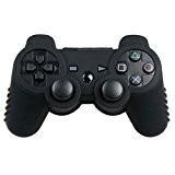 HOUSSE COQUE ETUI SILICONE PROTECTION MANETTE pour sony PS3 NOIR