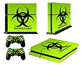 Jeux PS4 Skins Sony PS4 Vinly Decals Playstation 4 Console System plus Two(2) Stickers: Play Station 4 Controller - Biological ...