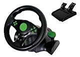 Kabalo Gaming Vibration Racing Steering Wheel (23cm) and Pedals for XBOX 360 PS3 PC USB [Gaming Vibration Volant de course ...