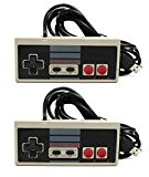 Link-e ® : Retro Gaming : lot de 2 manettes Nintendo NES à branchement USB pour PC