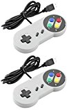 Link-e ® : Retro Gaming : lot de 2 manettes Super Nintendo SNES à branchement USB pour PC