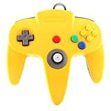 Manette de jeu classique Jaune Bleu pour console Nintendo 64 N64 TTX Tech