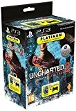 Manette PS3 Dual Shock 3 - noire  + Uncharted 2 : among thieves  - platinum