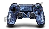 "Motif Design Skin pour Sony PS4 Controller: ""Blue Digital Camo"" (Lot de 2)"