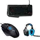 Pack Gamer Logitech : Clavier Gaming mécanique G410 Atlas Spectrum + Souris Gaming G402 Hyperion Fury + micro-casque Gaming PC/PS4
