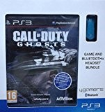 Pack oreillette bluetooth ps3 bleu + Call of Duty : Ghosts