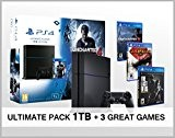 PlayStation 4 - Console 1 To + 3 Jeux - The Last of us + God of war 3 + ...
