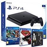 Playstation 4 PS4 Slim 1To MEGAPACK 5 Jeux - The Last of us + God of war 3 + Uncharted: ...