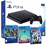 Playstation 4 PS4 Slim 1To PACK FAMILLE plus 5 jeux! Ratchet & Clank + Uncharted Collection (3 in 1) + ...