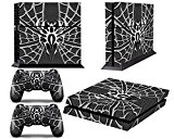 PS4 Designer Skin for Sony PlayStation 4 Console System plus Two(2) Decals for: PS4 Dualshock Controller - Widow Maker Chrome ...