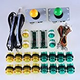 Reyann Arcade Games DIY Kits Parts 2 x USB Encoder Board + 2 x Arcade Rocker Wires Harness + 20 ...