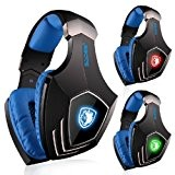 SADES A60 7.1 Surround Sound Wired Gaming Headset Headphone with Retractable Mic Vibration by Sades