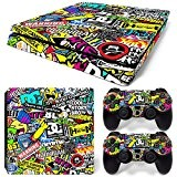 Sony PS4 Playstation 4 Slim Skin Design Foils Faceplate Set - Hoonigan Motif