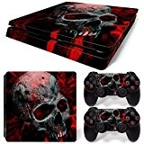 Sony PS4 Playstation 4 Slim Skin Design Foils Faceplate Set - Vampire Skull Motif