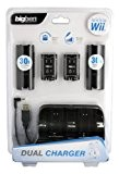 WII KIT DOUBLE CHARGEUR 2 WII REMOTE + 2 BATTERIES NOIR
